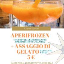 aperifrozen + assaggio di gelato a 5 €